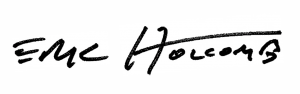 Signature of Governor Eric Holcomb